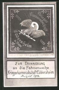 AK Eddersheim, zur Erinnerung an die Fahnenweihe, August 1933