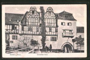 AK Rhens a. Rh., Hotel Deutsches Haus