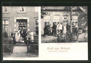 AK Wilsum, Grafschaft Bentheim, Wirtschaft Witwe Hölter, Hofbesitzer Damink