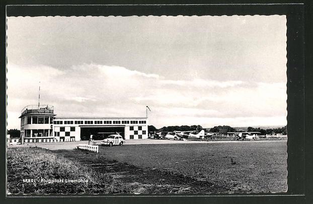 AK Marl, Ansicht vom Flugplatz Loemühle