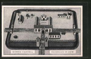 AK Hainhaus i/Odw., Darstellung vom histor. Römer-Castell