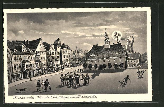 Wirtshaus-AK Finsterwalde,