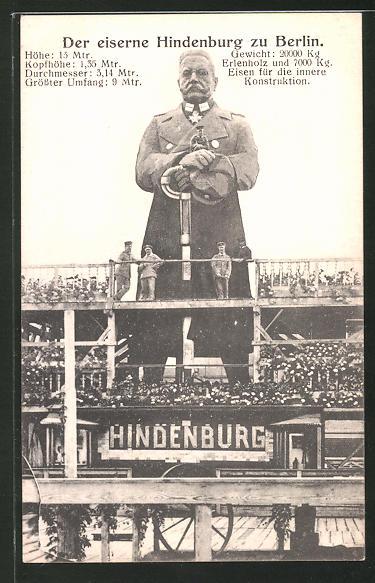 AK Berlin, Eiserner Hindenburg, Kriegshilfe