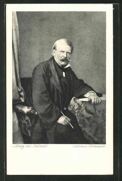Künstler-AK Moritz von Schwind: Portrait des Malers Moritz von Schwind