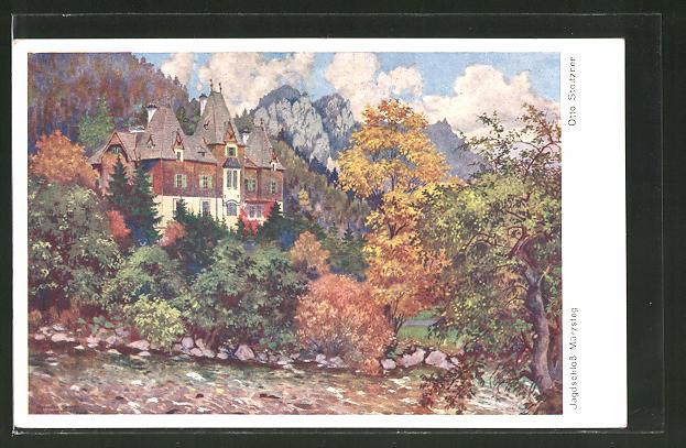 Künstler-AK Otto Stoitzner: Jagdschloss Mürzsteg