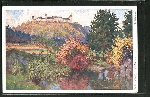 Künstler-AK Otto Stoitzner: Stift Göttweig in der Wachau, Panorama