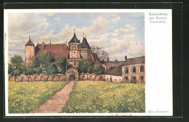 Künstler-AK Otto Stoitzner: Rosenburg a/Kamp, Turnierhof