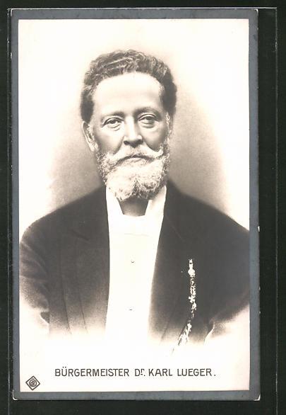 AK Portrait Bürgermeister Carl Lueger