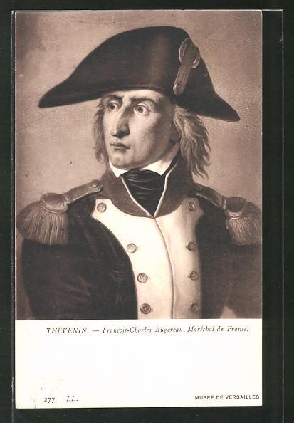 AK Portrait Francois-Charles Augereau, Marschall der französische Revolution