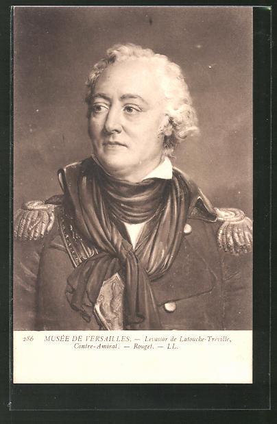 AK Portrait Konter-Admiral Levassor de Latouche-Tréville, französische Revolution