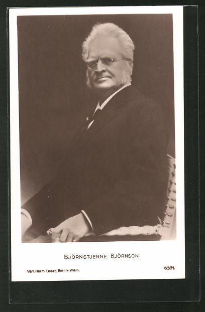 AK Portrait des norwegischen Dichters Björnstjerne Björnson