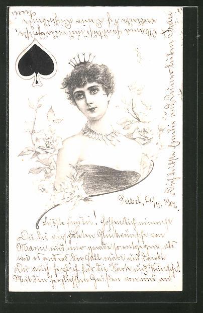 AK Pik Königin beim Kartenspiel