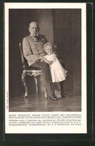 AK Kaiser Franz Josef I. von Österreich mit Erzherzog Franz Josef Otto
