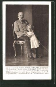 AK Kaiser Franz Josef I. von Österreich mit dem kleinen Erzherzog Franz Josef Otto
