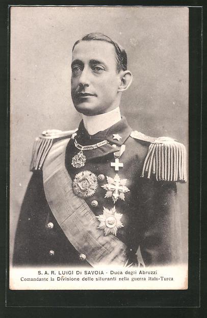 AK Luigi Di Savoia, Duca degli Abruzzi, Comandante la Division delle siluranti nella guerro Italo-Turca