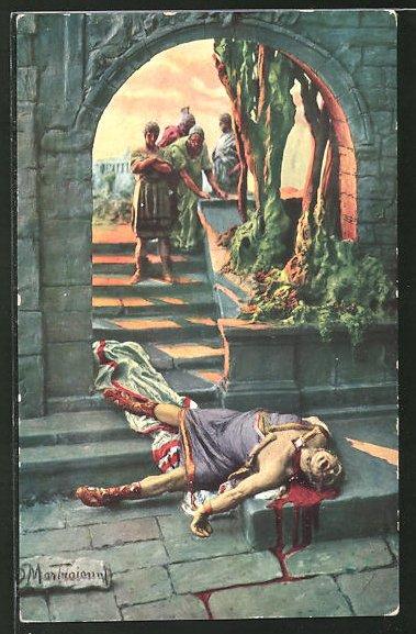Künstler-AK Domenico Mastroianni: Qui Vadis, Neros Tod