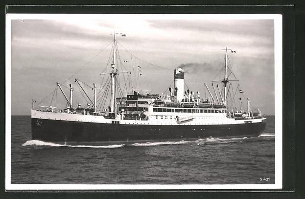 AK Passagierschiff Antonio Delfino auf hoher See