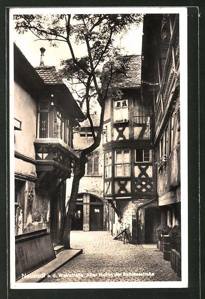 AK Neustadt a. d Weinstr., Alter Hof in der Rathausstrasse