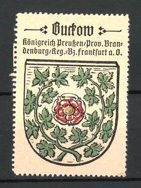 Reklamemarke Wappen von Buckow, Königreich Preussen, Prov. Brandenburg, Reg.- Bez. Frankfurt a. O.