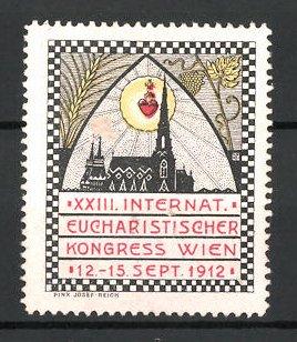 Reklamemarke Wien, XXIII. internationale eucharistischer Kongress 1912, Kirche und Heiligenbild