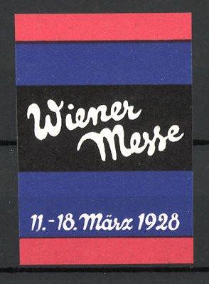 Reklamemarke Wien, Wiener Messe 1928