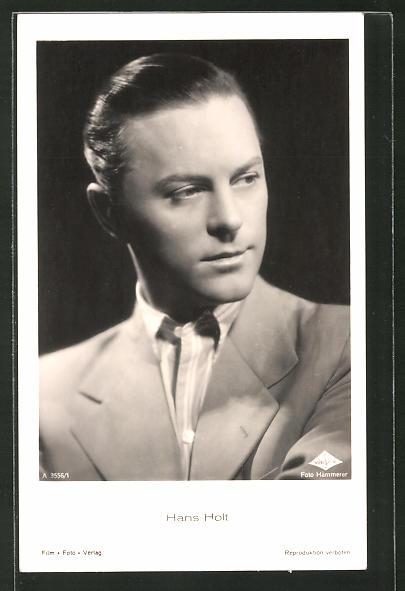 AK Schauspieler Hans Holt zur Seite blickend porträtiert