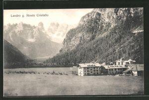 AK Lago di Landro, Teilansicht mit Monte Cristallo