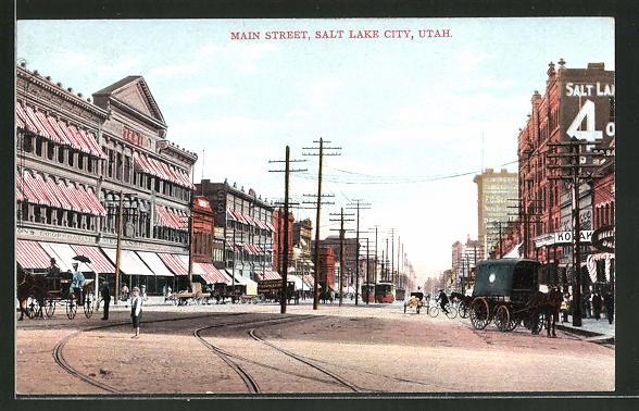 AK Salt Lake City, UT, Strassenpartie in der Main Street