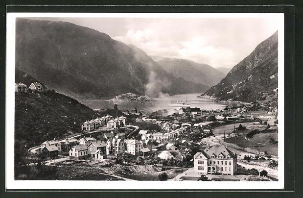 AK Odda, Panorama mit Hardangerfjord
