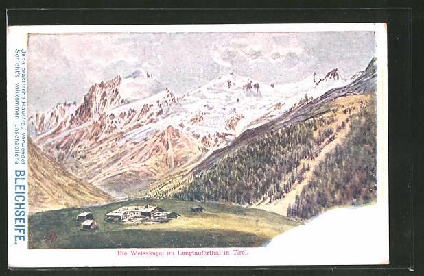 AK Bleichseife, Die Weisskugel im Langtauferthal in Tirol