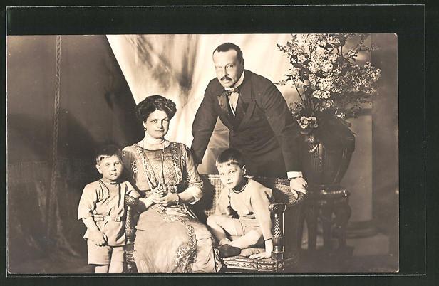 AK Grossherzog von Hessen-Darmstadt mit seiner Familie