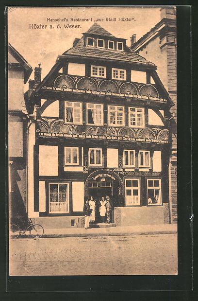 AK Höxter a. d. Weser, Henschel's Restaurant