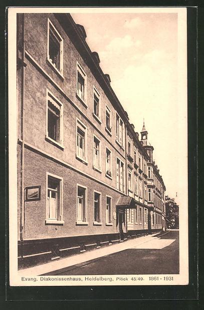 AK Heidelberg, Evang. Diakonissenhaus, Plöckstrasse 45-49