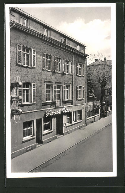 AK Bad Nauheim, Hotel Rex in der Reinhardstrasse 2-4, Bes. Hans Quaschigroch
