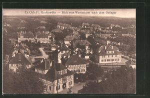 AK Grafenwöhr, Truppenübungsplatz, Blick vom Wasserturm nach dem Ostlager