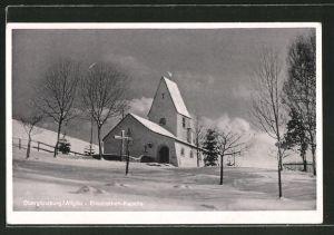 AK Obergünzburg / Allgäu, Elisabethen-Kapelle im Winter