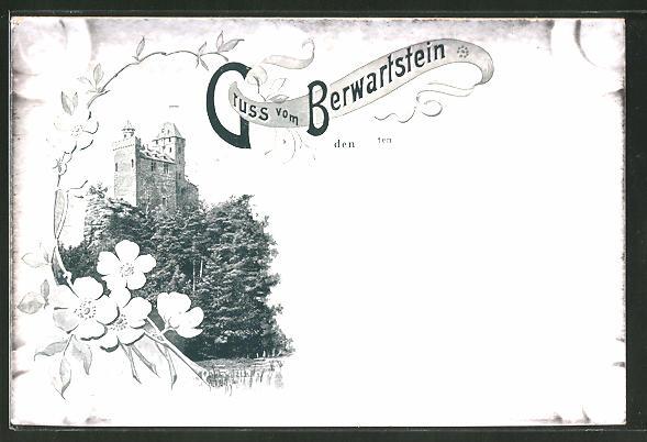 AK Erlenbach, Blick zur Burg Berwartstein