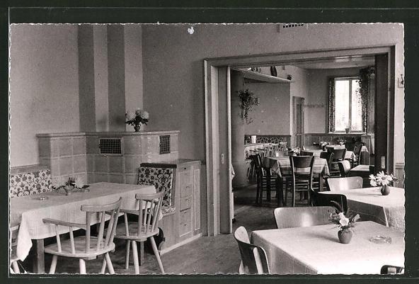 AK Schweigen / Weinstrasse, Gasthaus zum Bären mit Speiseraum