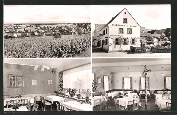 AK Oberotterbach / Weinstrasse, Gesamtansicht & Gasthaus-Pension