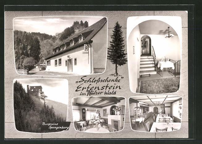 AK Erfenstein / Pfalz, Gasthaus Schlossschenke, Burgruine Spangenberg