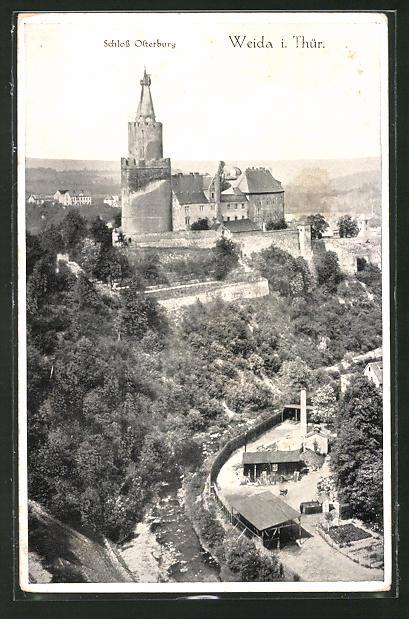 AK Weida i. Thür., Blick auf Schloss Osterburg