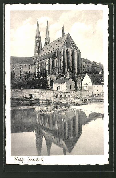 AK Görlitz, Blick zur Peterskirche
