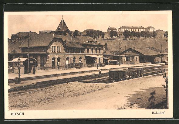 AK Bitsch, Bahnhof, Gesamtansicht
