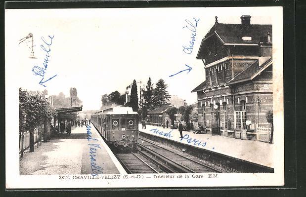 AK Chaville-Velizy, Intérieur de la Gare, Bahnhof