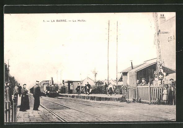 AK La Barre, La Halte, Bahnhof