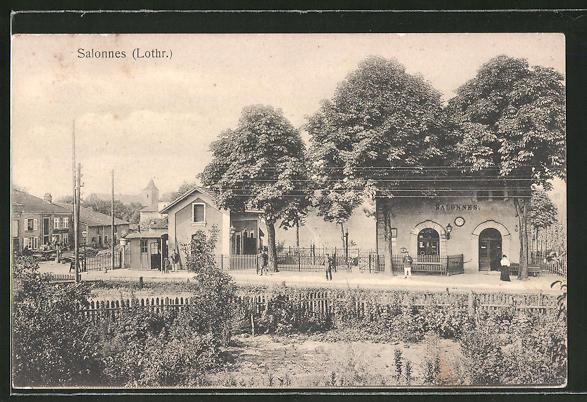 AK Salonnes, Motiv vom Bahnhof
