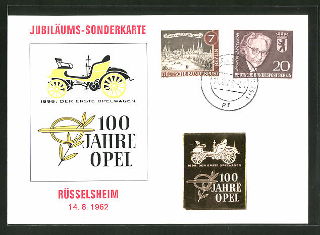 AK Rüsselsheim, 100 Jahre Opel 1962