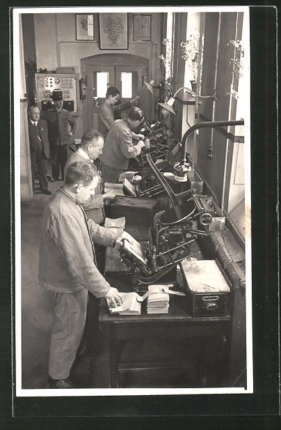 AK Darmstadt, Arbeiten in der Setzerei im Gefängnis
