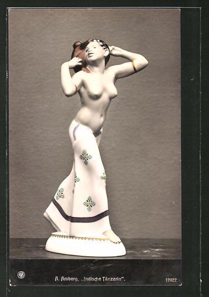 AK Berlin, Kgl. Porzellan-Manufaktur, Indische Tänzerin auf der Berliner Kunstausstellung 1911