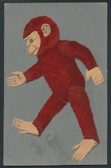 Filz-AK Affe aus Filz